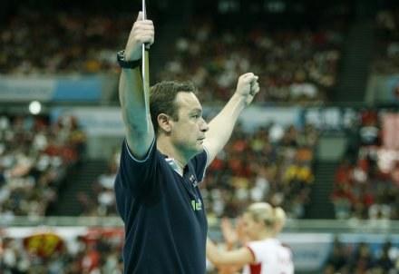 Trener reprezentacji Polski siatkarek Marco Bonitta /www.fivb.org
