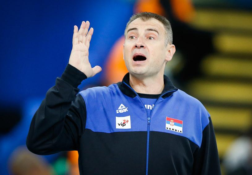 Trener reprezentacji Serbii siatkarzy Nikola Grbić /www.fivb.org