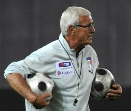 Trener reprezentacji Włoch Marcello Lippi /AFP