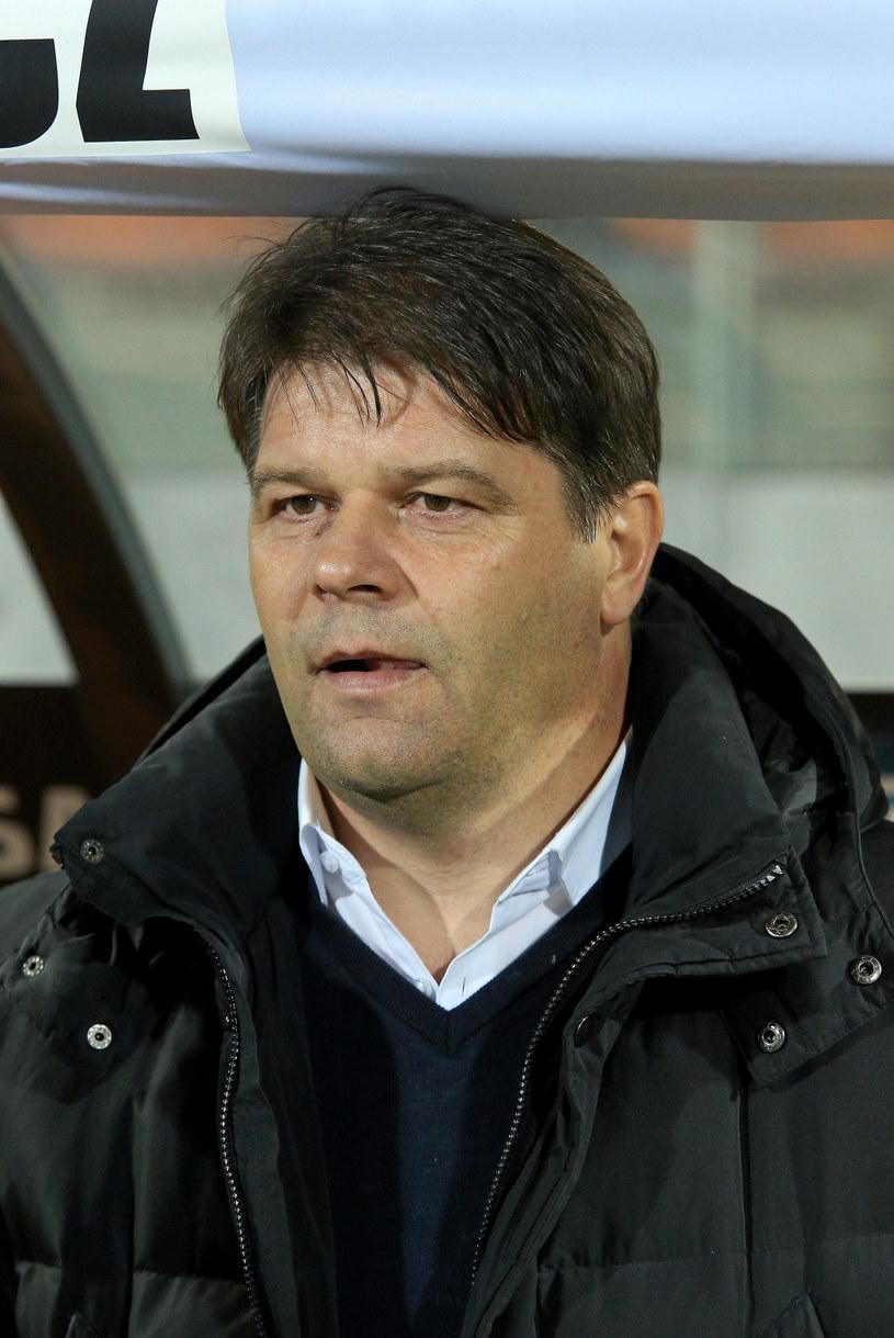 Trener Sandecji Nowy Sącz Radosław Mroczkowski /Fot. Stanisław Rozpędzik /PAP