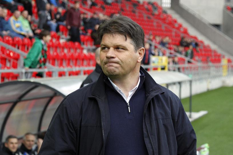 Trener Sandecji Radosław Mroczkowski /Fot. Michał Chwieduk /Newspix