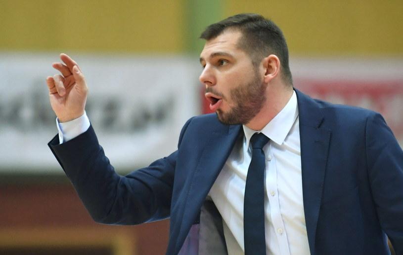Trener Stelmetu BC Zielona Góra Artur Gronek /Bartłomiej Zborowski /PAP
