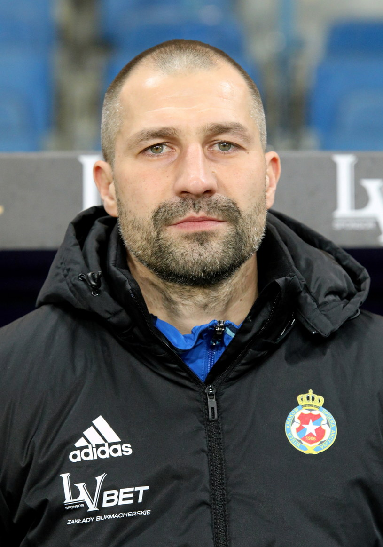 Trener Wisły Radosław Sobolewski. /Stanisław Rozpędzik /PAP