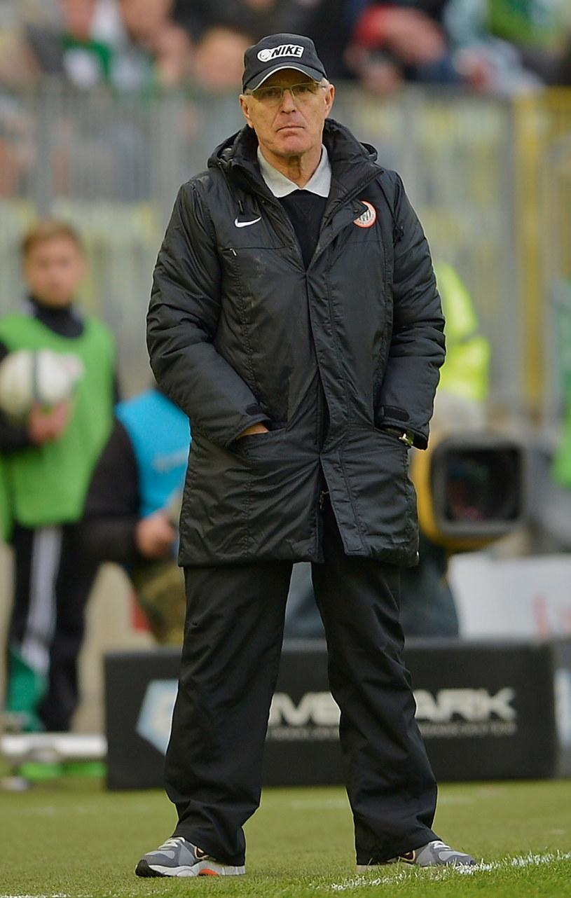 Trener Zagłębia Lubin Orest Lenczyk /PAP