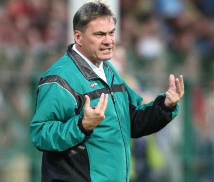 Trener Zieliński jest załamany postawą obrony,FOT.Łukasz Grochala /Agencja Przegląd Sportowy