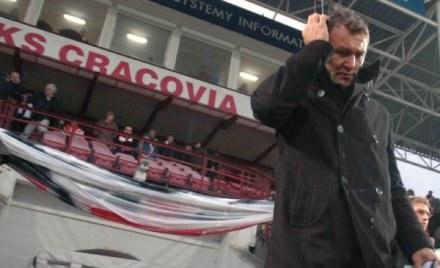 Trenerowi Płatkowi uleciał z głowy skład Cracovii /ASInfo