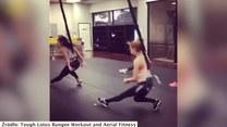 Trening fitness z wykorzystaniem... lin do bungee