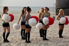 Trening Nordic Walking na plaży w Gdyni