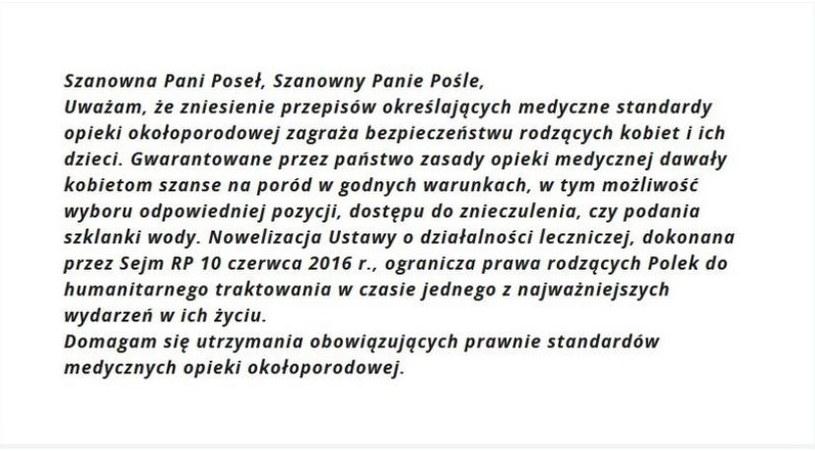 Treść listu /INTERIA.PL