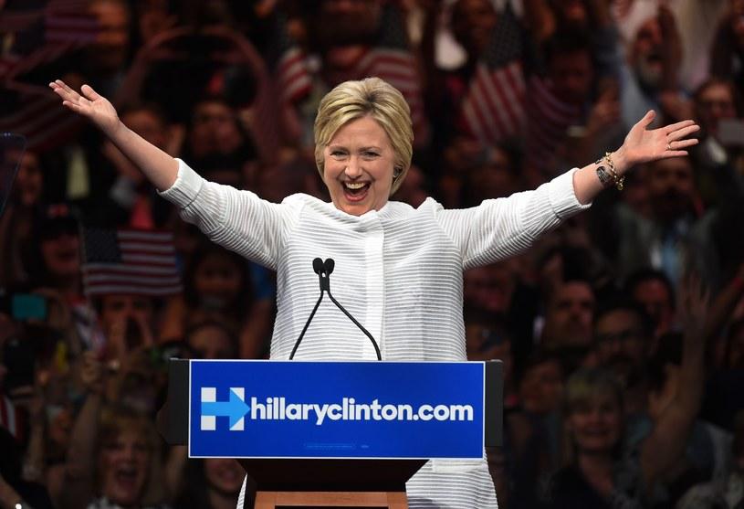 Triumfująca Hillary Clinton /AFP