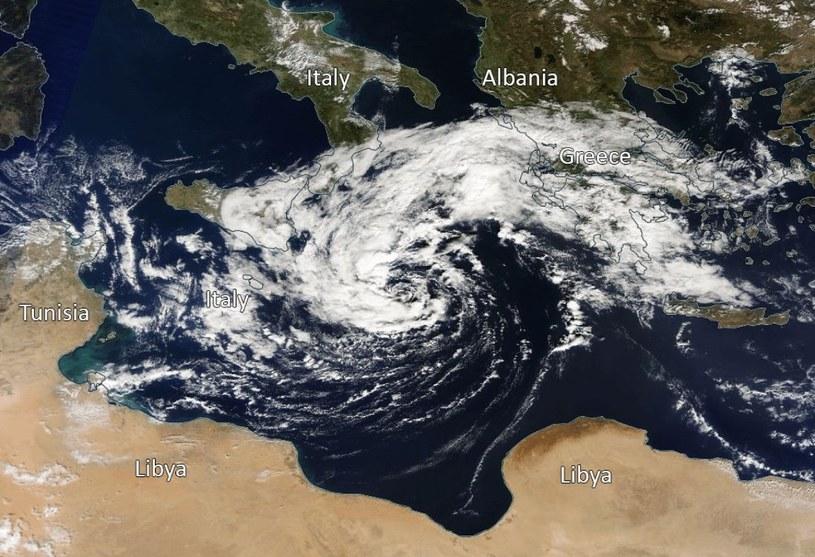 Tropikalny sztorm z końca października 2016 na Morzu Śródziemnym /materiały prasowe