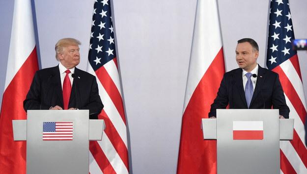 Trump po spotkaniu z Dudą: Polacy mają niezłomnego ducha