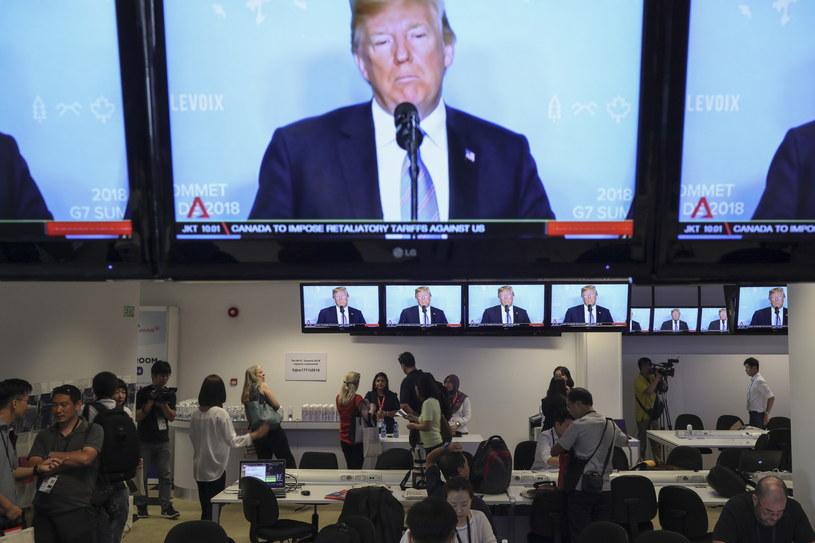 Trump w drodze na szczyt w Singapurze /WALLACE WOON /PAP/EPA