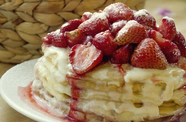 Truskawkowe pancakesy, fot. Malwina Zaborowska /RMF24
