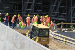 Trwa budowa PGE Areny, stadion ma być gotowy na 2 czerwca