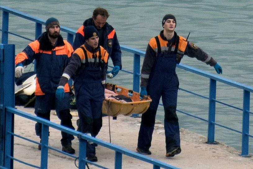 Trwa poszukiwanie zwłok ofiar katastrofy /AFP
