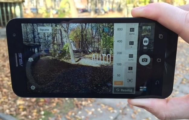Tryb manualny w smartfonie ASUS ZenFone 2 Laser /INTERIA.PL