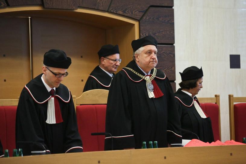 Trybunał Konstytucyjny w pełnym składzie. /Rafał Guz /PAP