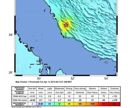Trzęsienie o sile 6,3 w skali Richtera nastąpiło o godzinie 16.22 czasu lokalnego /PAP/EPA