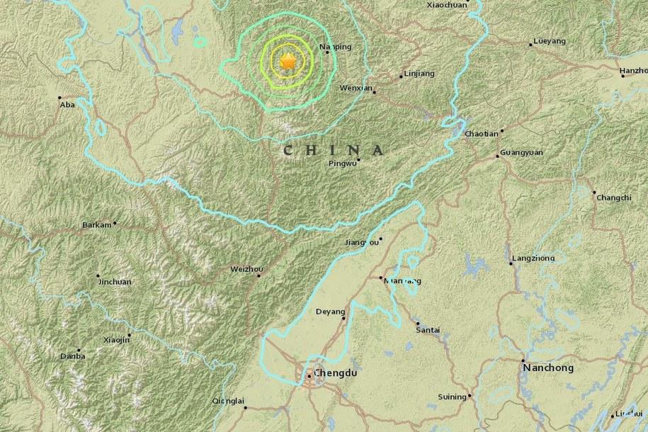 Trzęsienie ziemi w Syczuanie, możliwa setka ofiar śmiertelnych /United States Geological Survey (USGS) /Zrzut ekranu