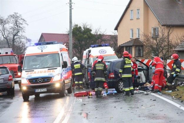 Trzy osoby zostały ranne / Fot: ratownictwo.opole.pl /
