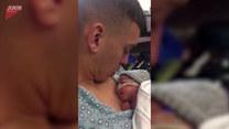 Trzymał na rękach nowo narodzonego syna. Pocałował go, i wtedy...