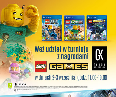 Turniej gier Lego w Galerii Krakowskiej