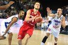 Turniej koszykarzy we Włocławku. Polska - Belgia 55:58