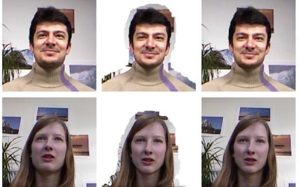 Twarz rozmówcy jest przekształcana tak, by sprawiać wrażenie kontaktu wzrokowego /Gadżetomania.pl