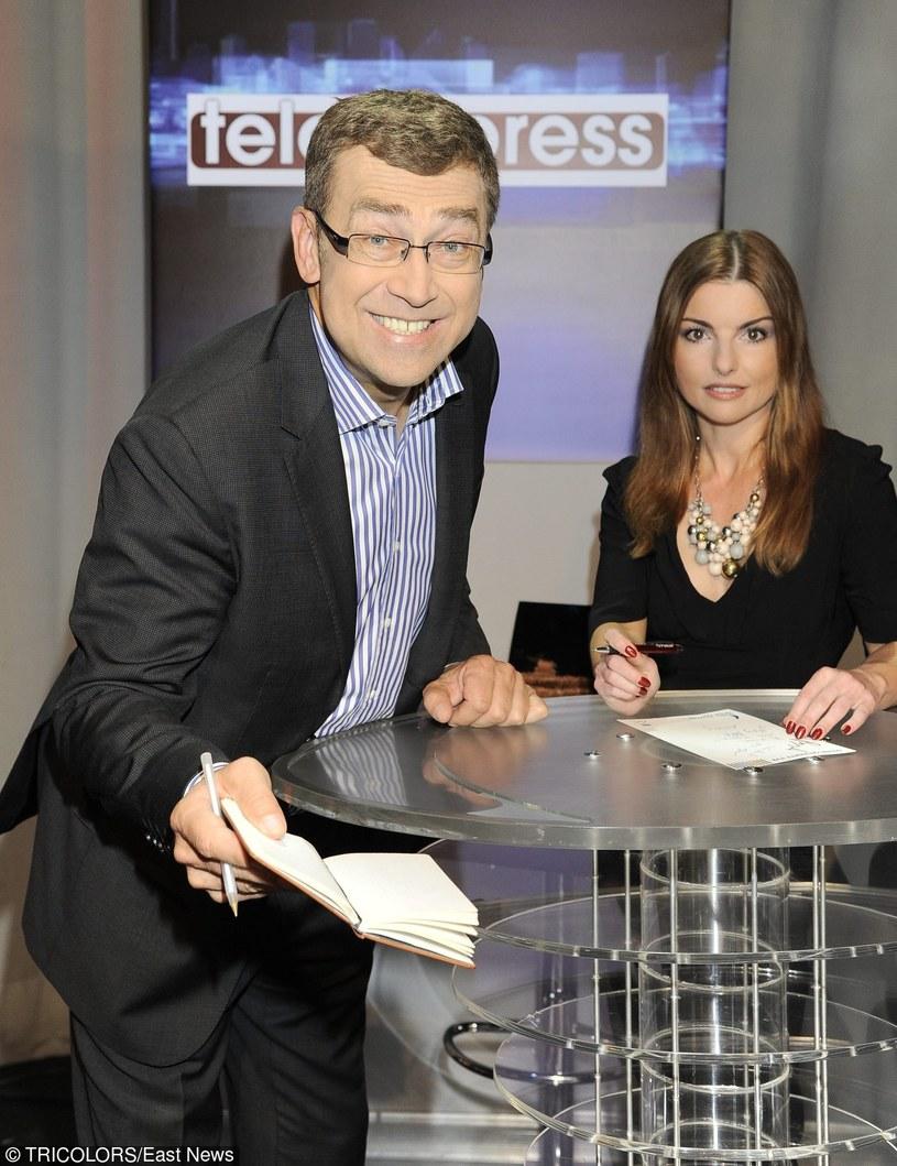 "Twarze ""Teleexpressu"": Maciej Orłoś i Beata Chmielowska-Olech /Tricolors /East News"