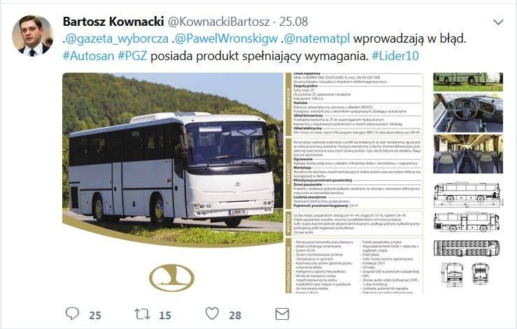 Tweet opublikowany przez wiceszefa MON Bartosza Kownackiego /Twitter /Zrzut ekranu