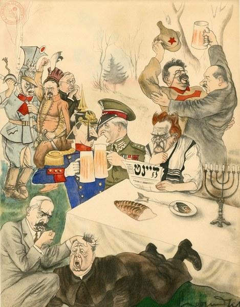 Marszałek Józef Piłsudski w karykaturach Zdzisława Czermańskiego; zbiór AAN