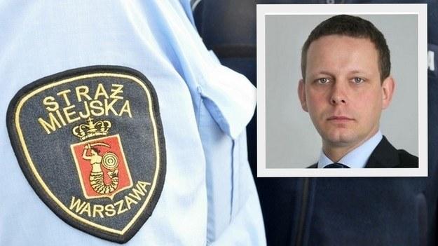 Tydzień po pijackim wybryku Łukasz Pawełek nadal skarbnikiem PO, fot. Straż miejska /