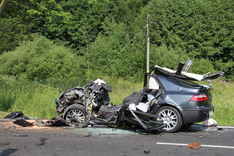 Tyle zostało z samochodu, który wjechał pod tira /Maciej Pałachicki  /RMF FM