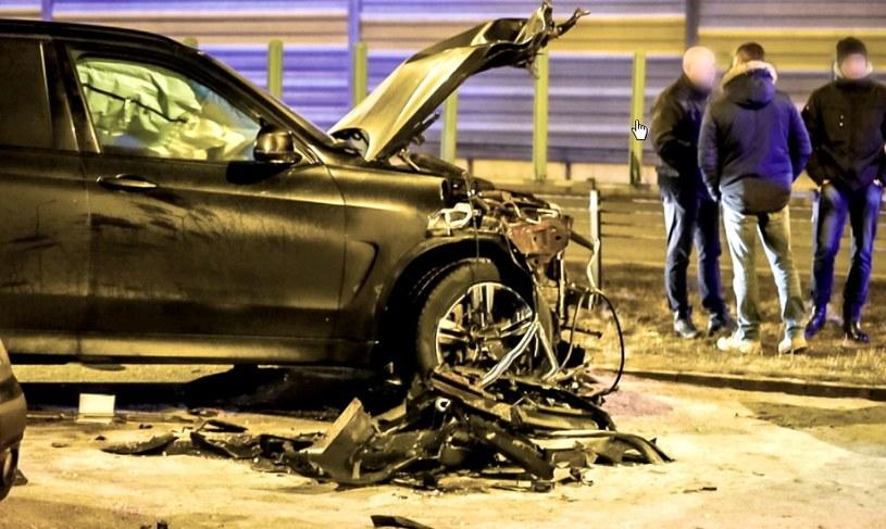 Tym BMW X5 jechał sprawca karambolu /Tytus Żmijewski /PAP
