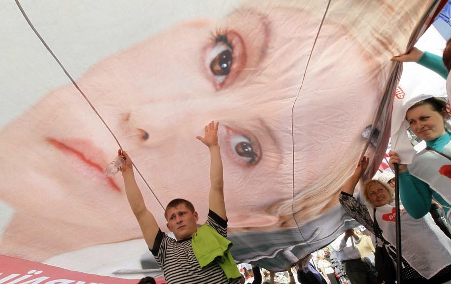 Tymoszenko trafiła do więzienia skazana na siedem lat /SERGEY DOLZHENKO /PAP/EPA