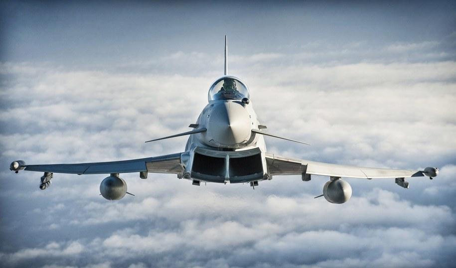 Typhoon należący do RAF-u / SGT RALPH MERRY ABIPP RAF / BRITISH MINISTRY OF DEFENCE    /PAP/EPA