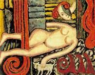Tytus Czyżewski, Akt z kotkiem, 1920 /Encyklopedia Internautica