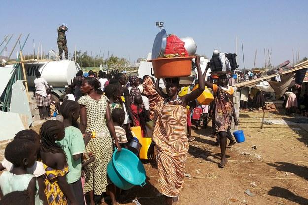 Uchodźcy na przedmieściach stolicy Sudanu Południowego - Dżuby / JULIO BRATHWAITE/UNMISS/HANDOUT   /PAP/EPA