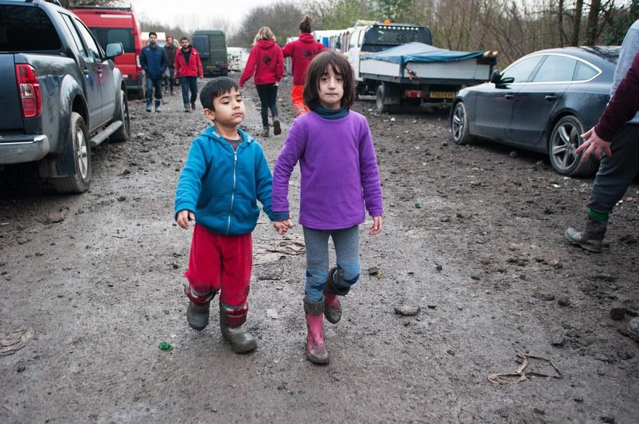 Uchodźcy w obozie we Francji /Sadones Frederik    /PAP/EPA