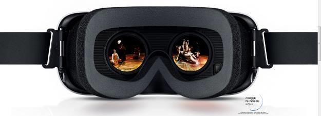 """Uczestnictwo w spektaklu Cirque du Soleil - jeden z """"Experiences"""" oferowanych przez Gear VR. Zdjęcia i filmy nigdy nie oddadzą wrażeń z obcowania z VR /materiały prasowe"""