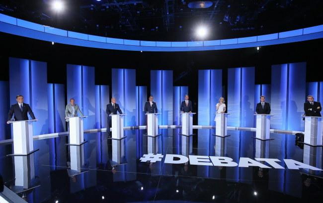 Uczestnicy debaty prezydenckiej /PAP/Paweł Supernak /PAP