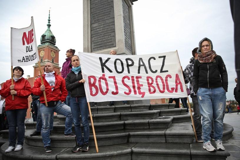 Uczestnicy manifestacji w Warszawie /PAP/Rafał Guz /PAP