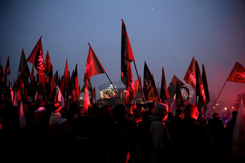 Uczestnicy Marszu Niepodległości /Tomasz Gzell /PAP