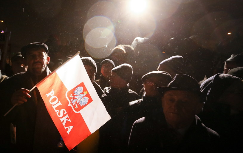 Uczestnicy Marszu Wolności, Solidarności i Niepodległości, organizowanego przez PiS. /Paweł Supernak /PAP