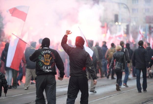 Uczestnicy marszu /Jacek Turczyk /PAP