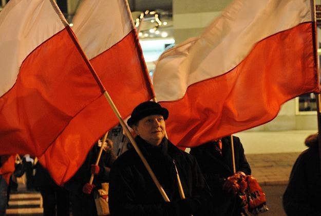 Uczestniczka marszu/fot. A. Hrechorowicz /PAP