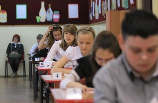 Uczniowie szkoły podst. nr 21 w Gorzowie Wielkopolskim pisali test szóstoklasisty /fot. L. Muszyński /PAP