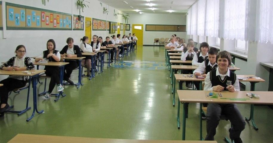 Uczniowie tuż przed egzaminem w lubelskiej SP nr 30 /Krzysztof Kot /RMF FM