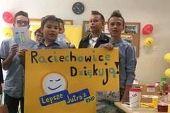 Uczniowie z Raciechowic dziękują za nowoczesną pracownię